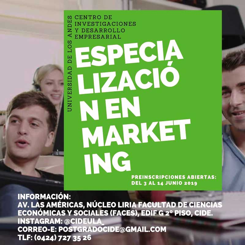 CIDE Preinscripción Especialización en Marketing
